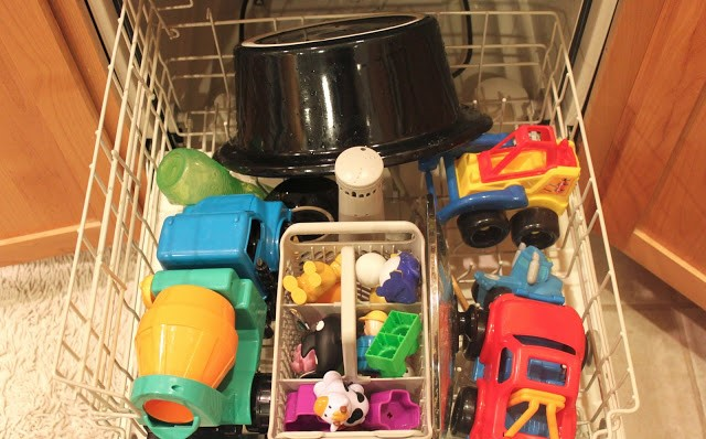 toys in dishwasher